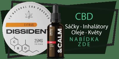 CBD - Sáčky, oleje, inhalátory, květy