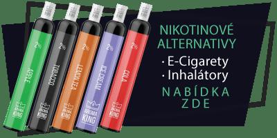 Nikotinové alternativy - E-cigarety, inhalátory