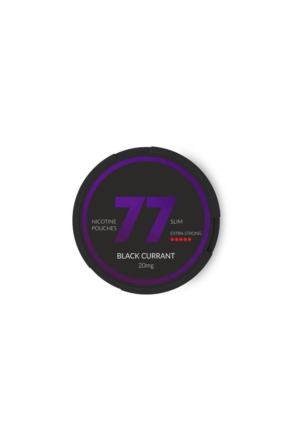 77 black currant nikotinove sacky nicopods