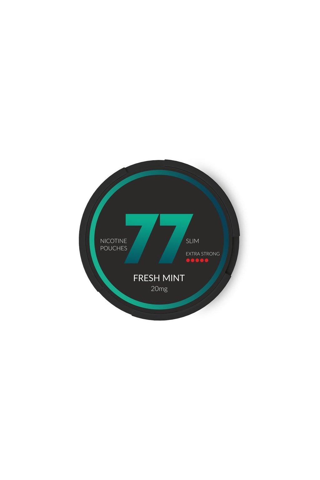 77 fresh mint nikotinove sacky nicopods