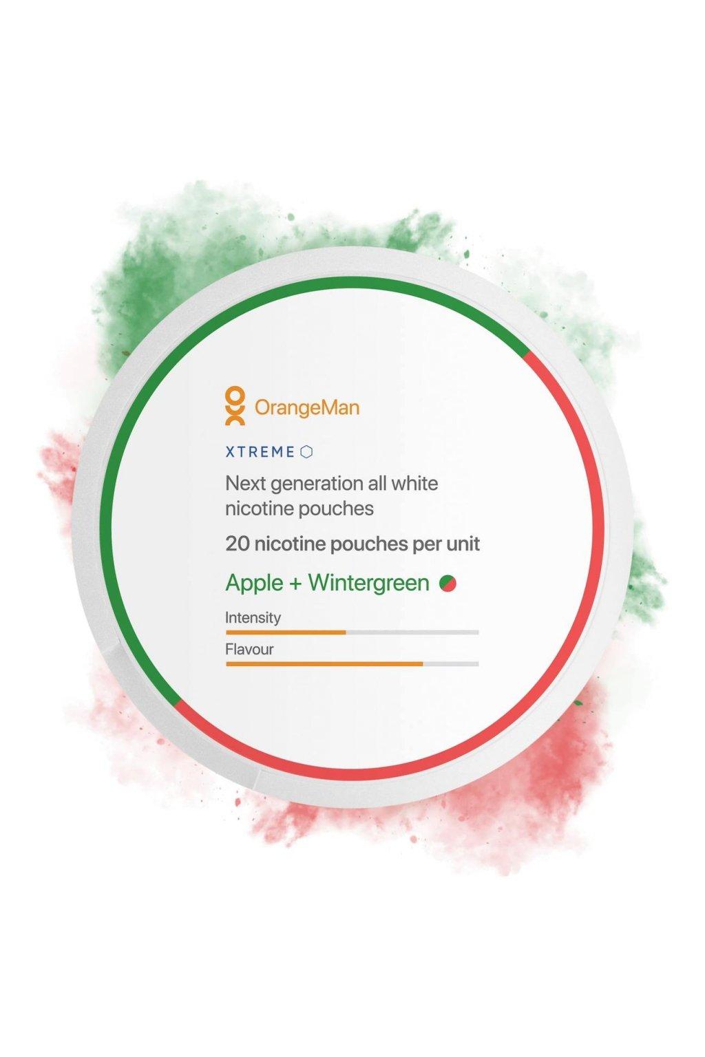 OrangeMan nikotinove sacky apple wintergreen nicopods