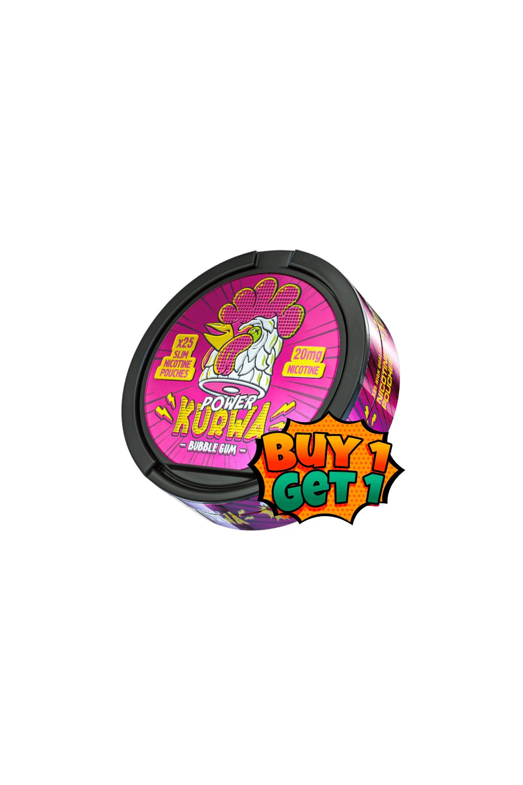 Kurwa bubblegum power nikotinove sacky 1+1