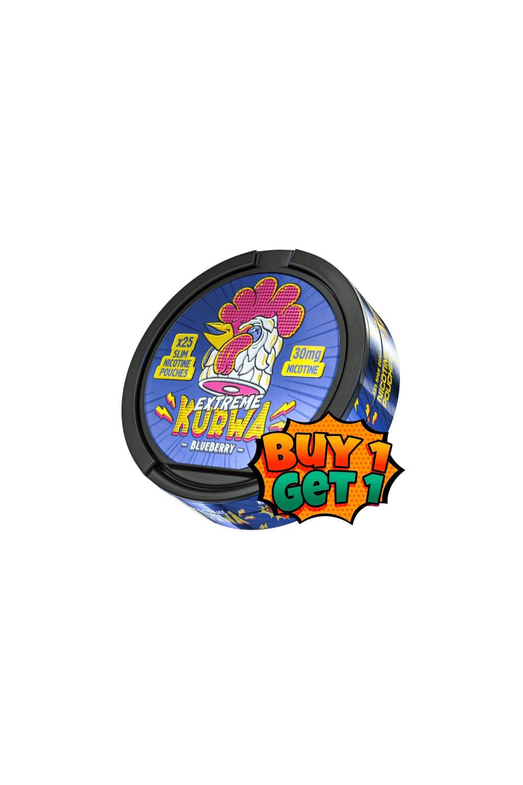 kurwa blueberry 30 extreme nikotinove sacky 1+1