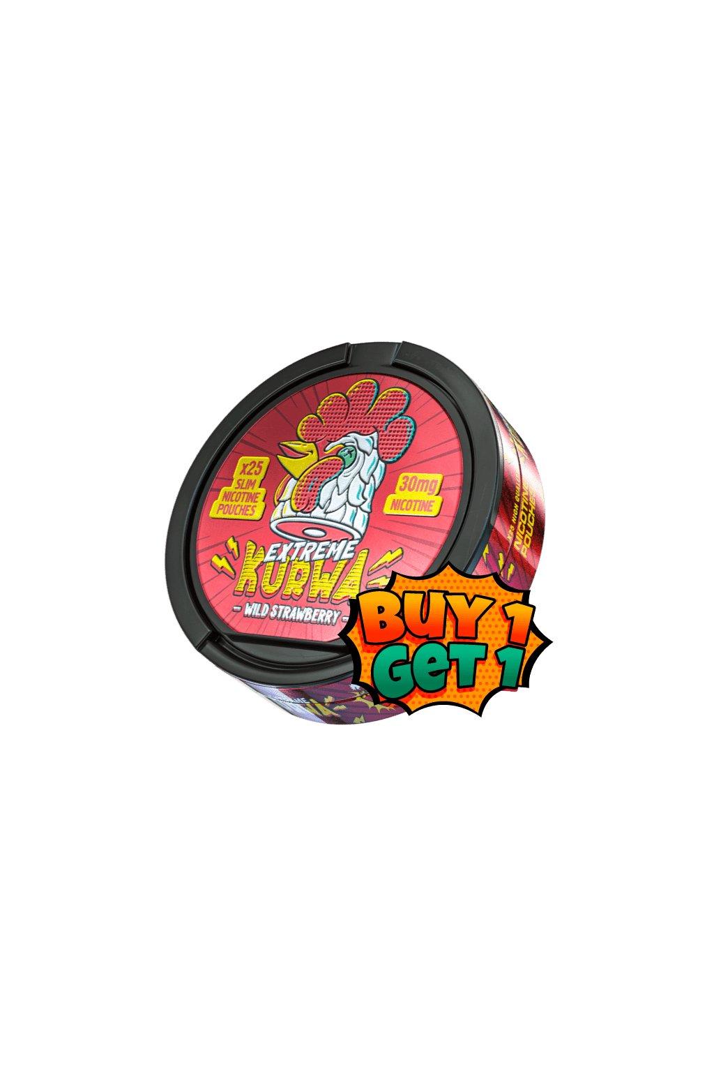Kurwa wild strawberry extreme nikotinove sacky 1+1