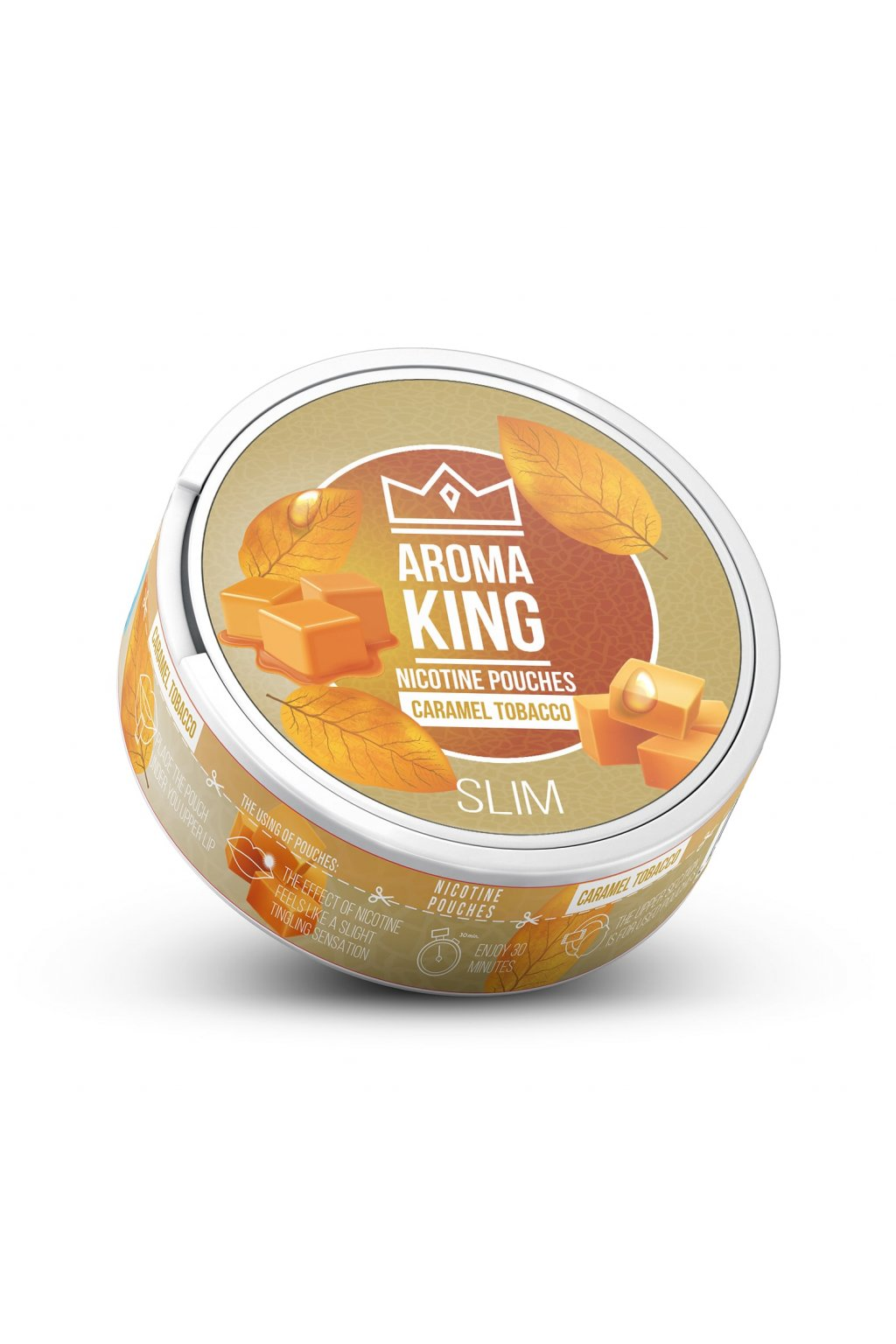 AromaKing caramel tobacco 60 mg 20 mg nikotinove sacky nicopods