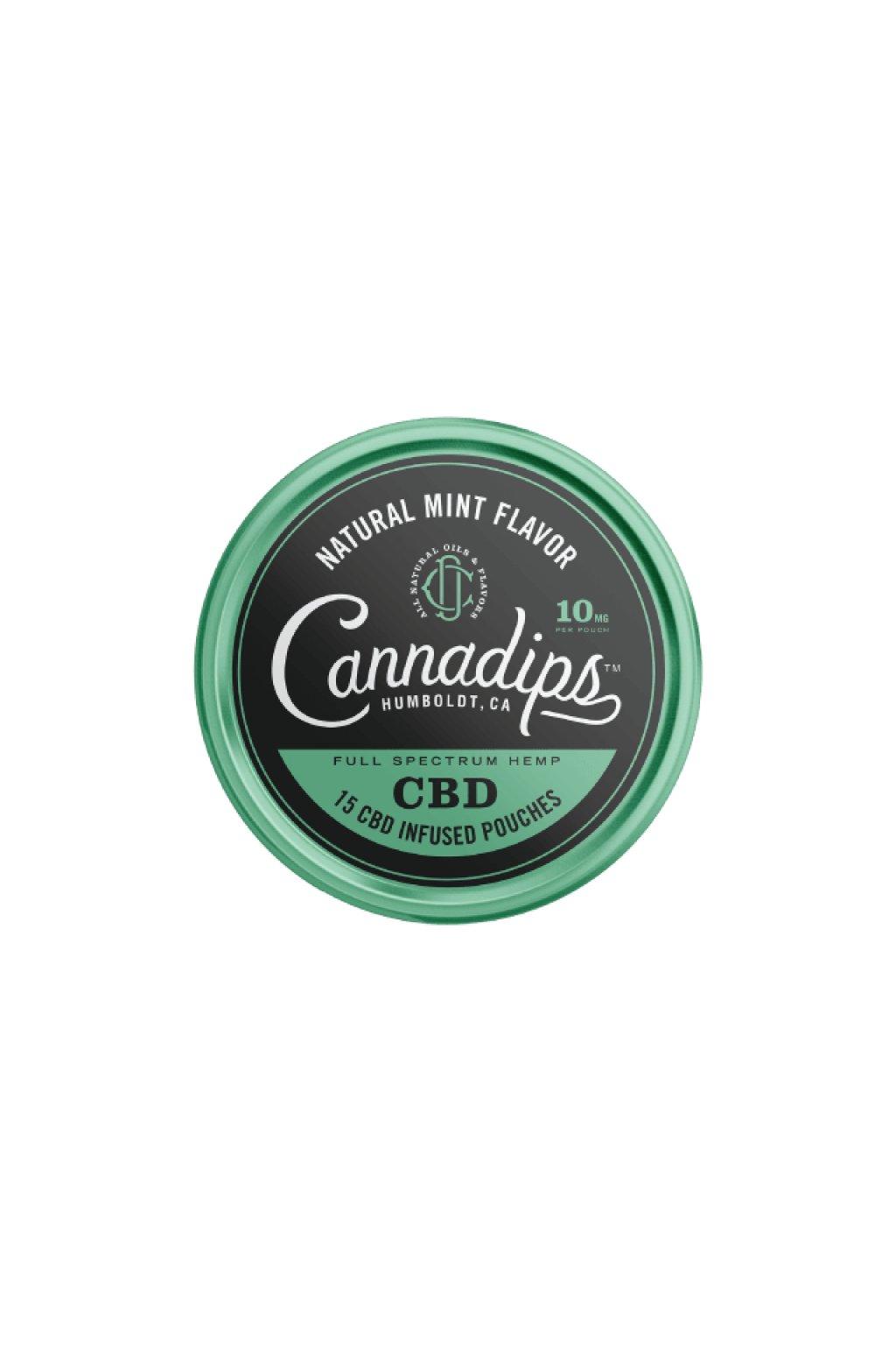 cannadips cbd sacky natural mint nordiction