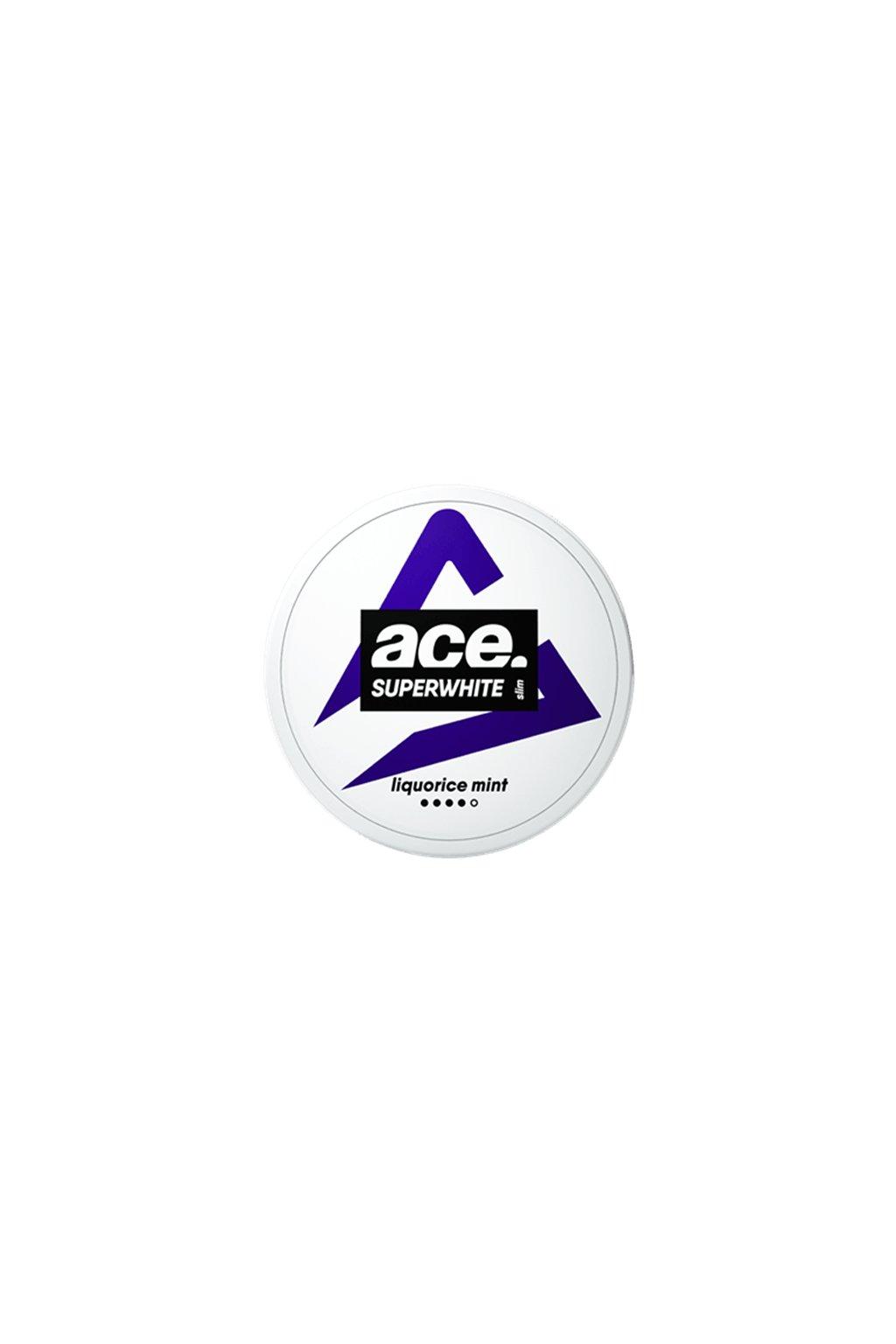 ace superwhite liquorice slim strong nikotinove sacky nicopods nordiction