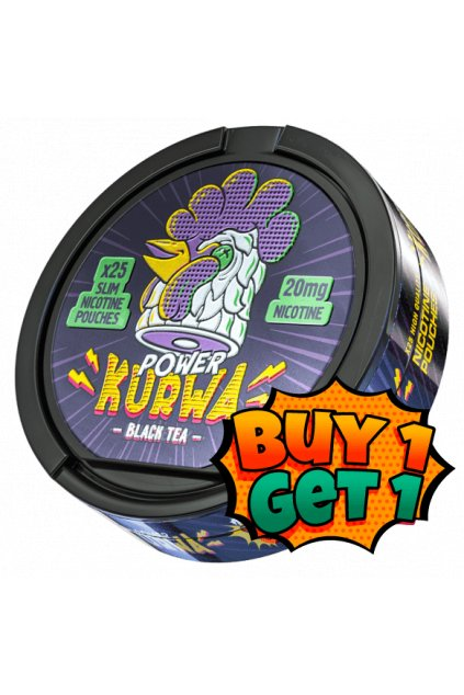 kurwa blak tea power nikotinove sacky 1+1