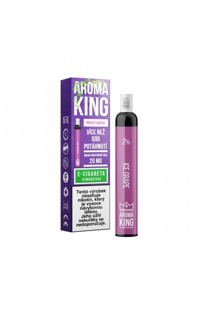 AromaKing 500 Ice Grape E cigareta min min