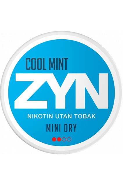 zyn cool mint mini dry nikotinove sacky