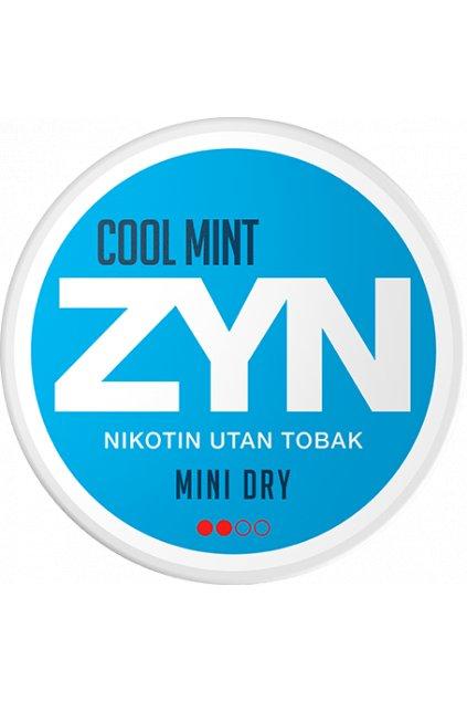 zyn cool mint mini dry nikotinove sacky