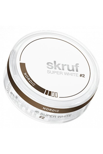 skruf super white lekorice nikotinove sacky nordiction