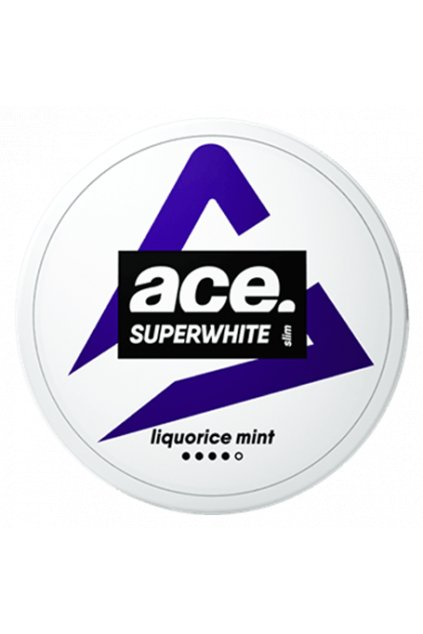 ace superwhite liquorice slim strong nikotinove sacky nicopods nordiction