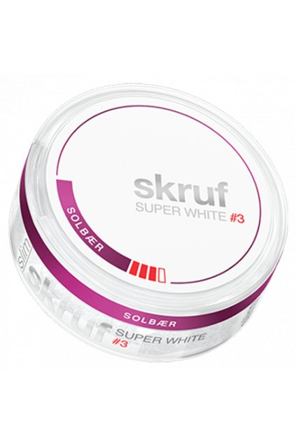 Skruf super white blackcurrant nikotinove sacky nicopods nordiction