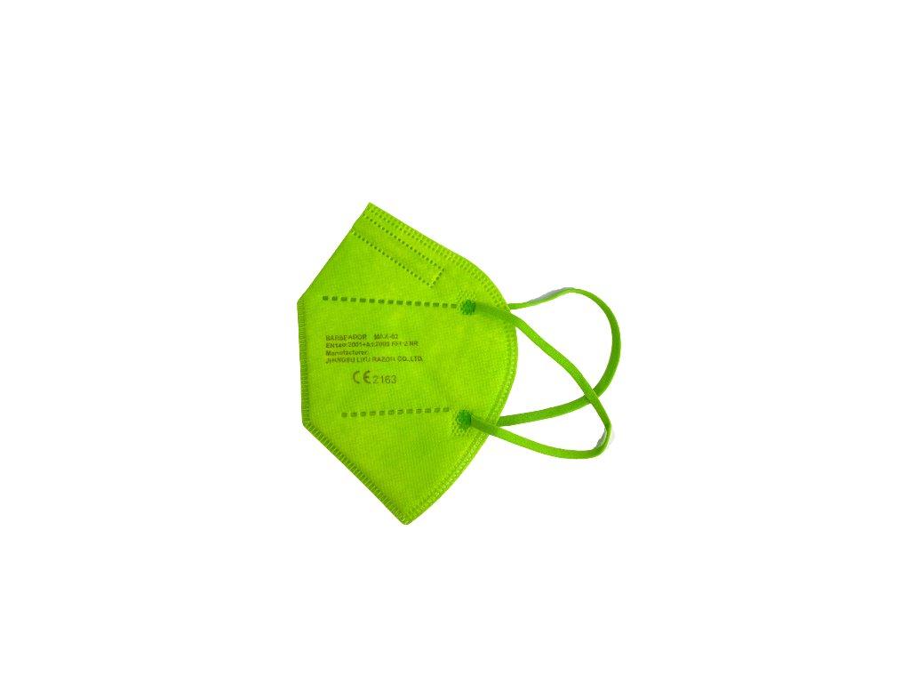 """Zelený respirátor """"Barbeador"""" 1 ks"""