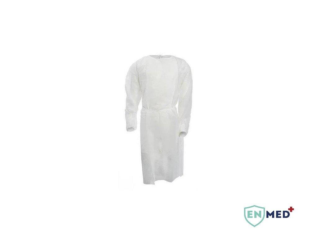 EnMed® Návštěvnický plášť - jednorázový, bílý - 10 ks  Cena za kus 16,92 Kč