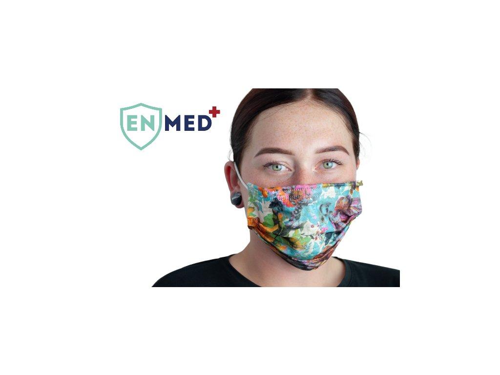 ENMED® Designová hygienická rouška 08 Garden 10 ks