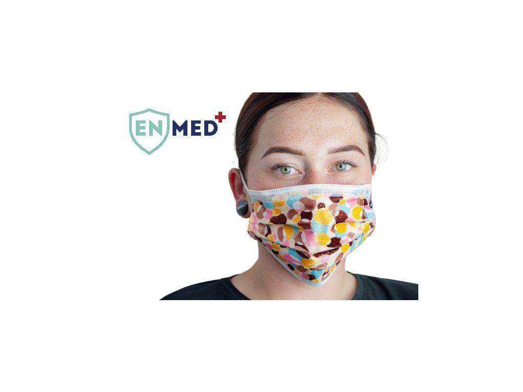 ENMED® Designová hygienická rouška 12 Sweet 10 ks
