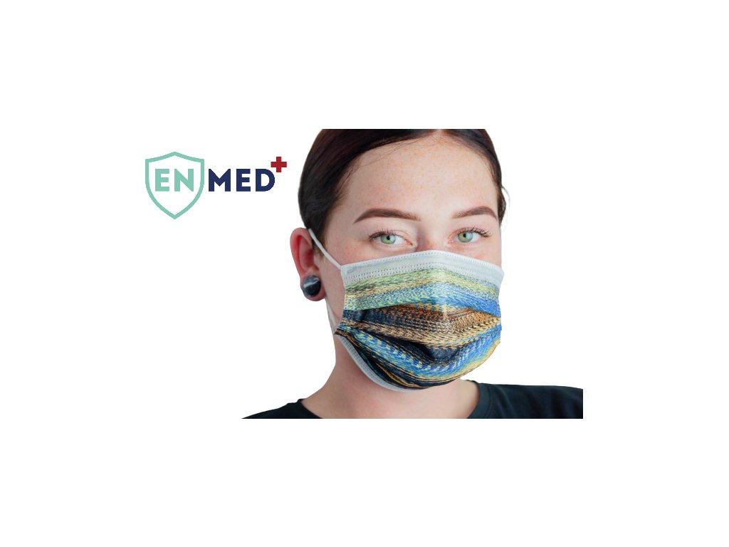 ENMED® Designová hygienická rouška 03 Sahara 10 ks