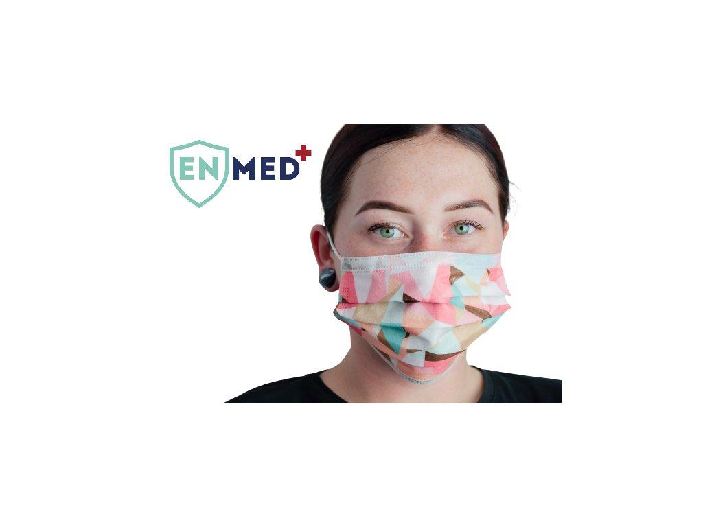 ENMED® Designová hygienická rouška 19 Geometry 10 ks