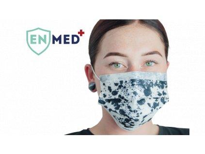 ENMED® Designová hygienická rouška 06 Dalmatin 10 ks