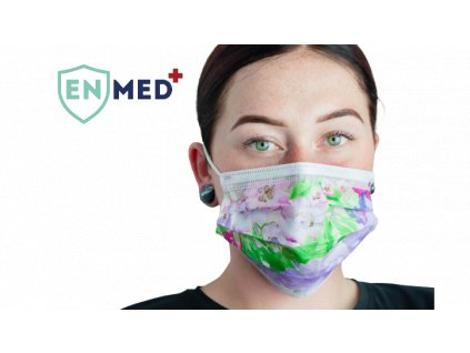 ENMED® Designová hygienická rouška 27 Flowers 10 ks