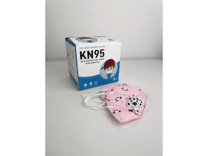 Dětská fashion maska KN95 s ventilkem různé barvy - 10 ks