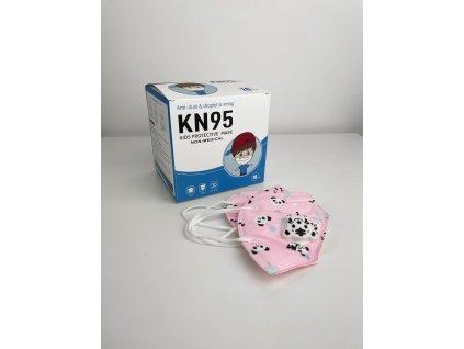 Dětské respirátory KN95 různé barvy - 10 ks