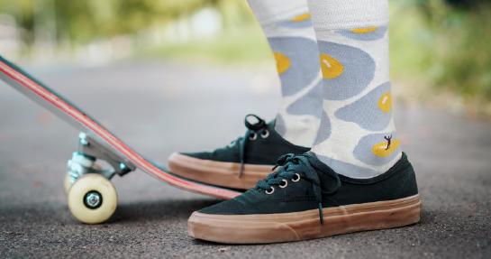 Stavíme to na ponožkách, protože jsou nejdůležitější část oblečení. Proč?