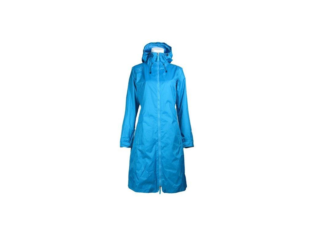 Dámský nepromokavý kabát Rain & Wind SKHOOP - tyrkysová