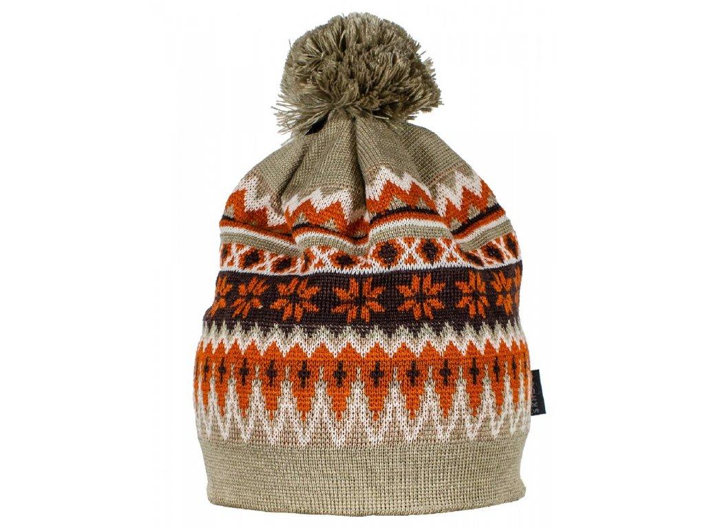 Zimní pletená čepice Nordic SKHOOP - khaki