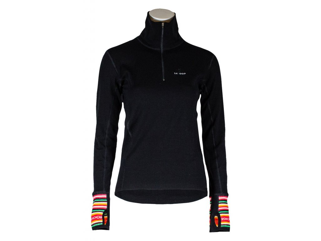 spodní triko Merino T-neck SKHOOP - černá