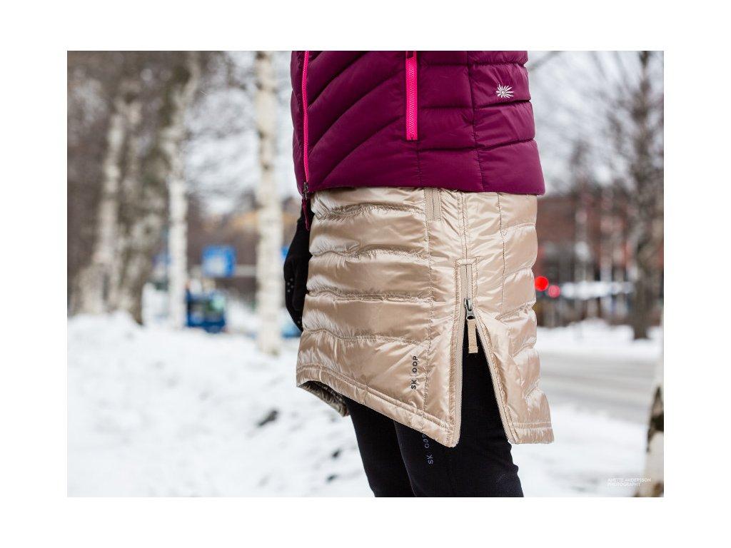 553fe3b0ece Zimní sukně péřová Short Down SKHOOP - champagne