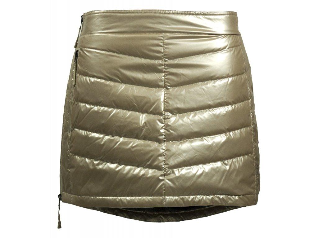 Prošívaná zimní péřová sukně Down Mini SKHOOP - champagne - NORTH SHOP a7baa267b18