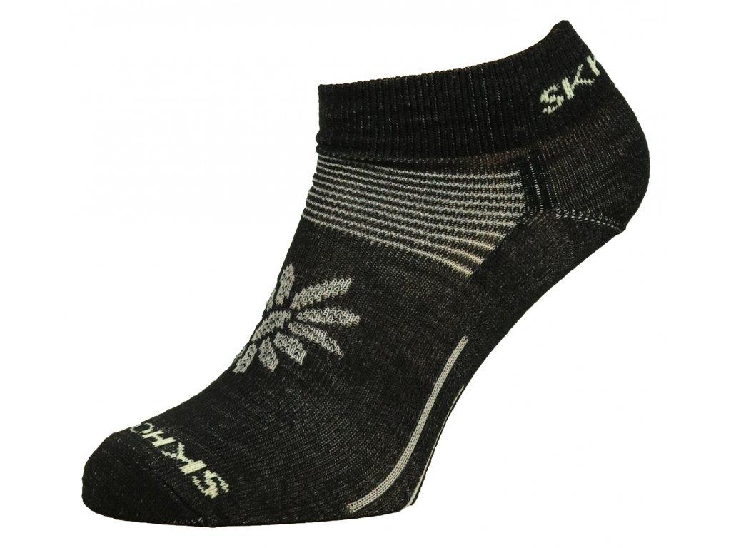 Dámské merino ponožky Mini SKHOOP - black