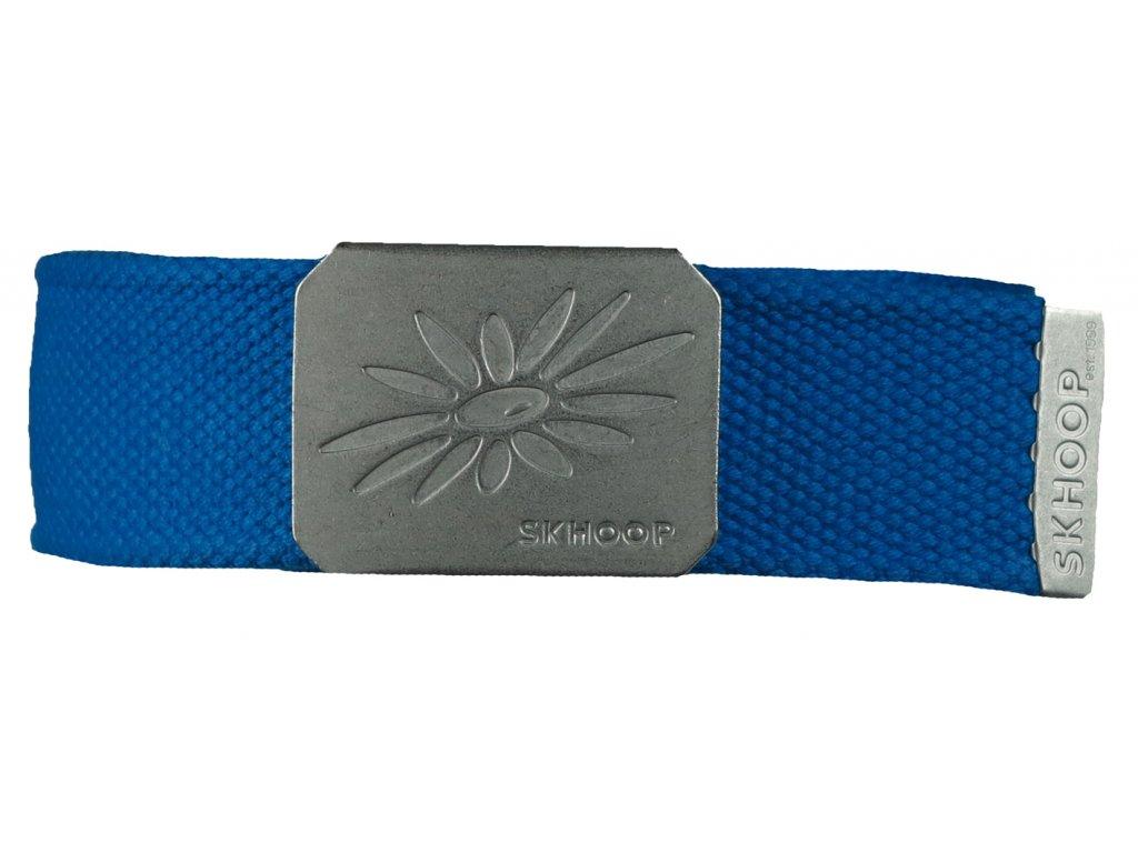 Pásek s kovovou přezkou SKHOOP Belt - modrý methyle blue