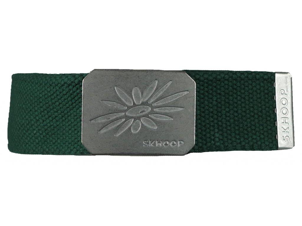 Pásek s kovovou přezkou SKHOOP Belt - forest green