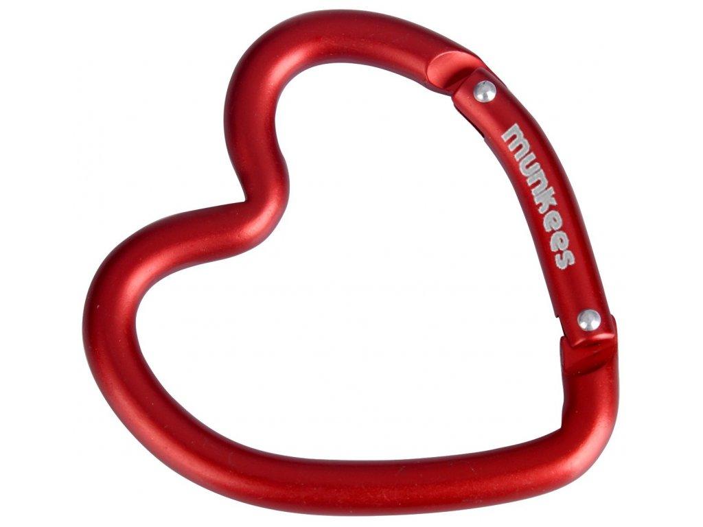Klíčenka ozdobná Karabina ve tvaru srdce Munkees