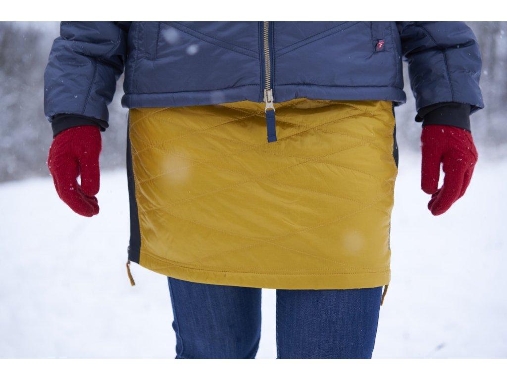 Zimní sportovní sukně Kari Mini SKHOOP - golden star