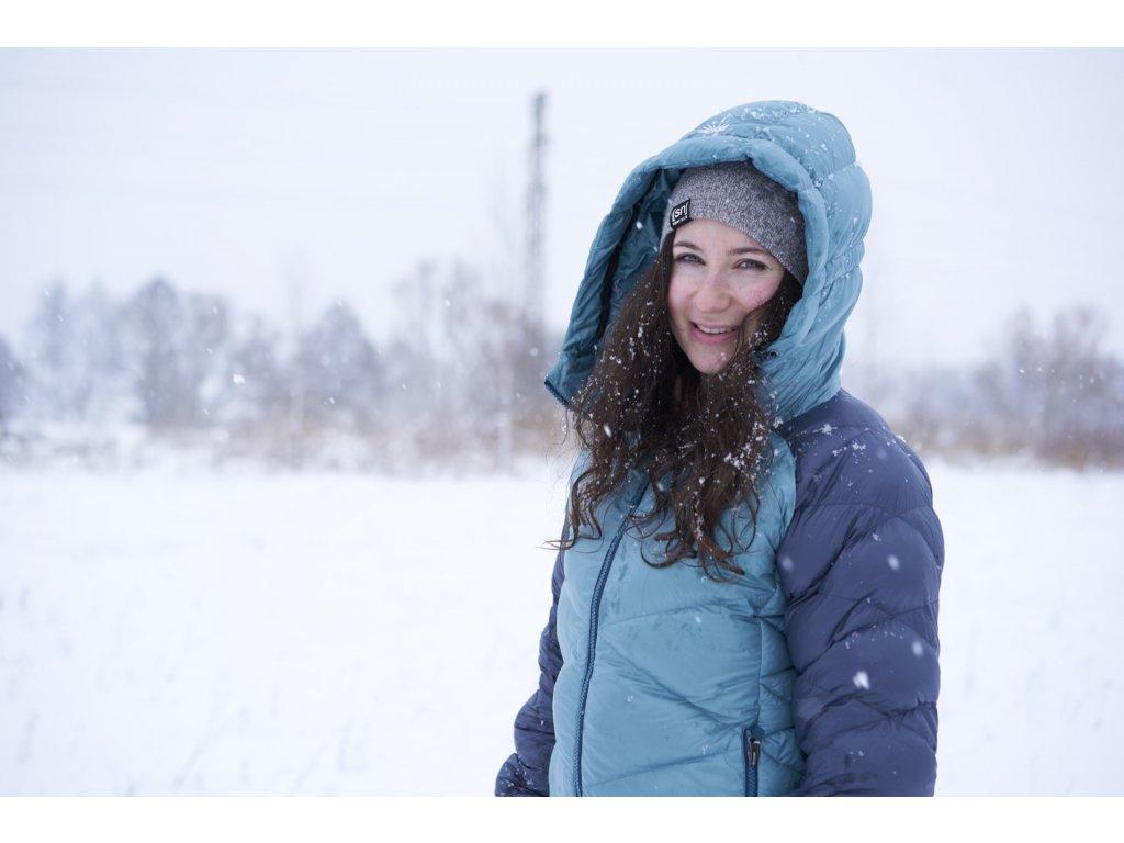 Zimní péřová bunda Naomi SKHOOP - blue surf