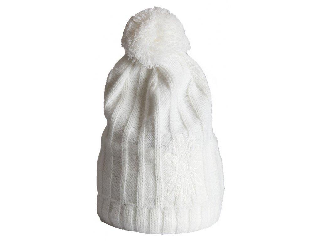 Zimní čepice Tassel SKHOOP - bílá
