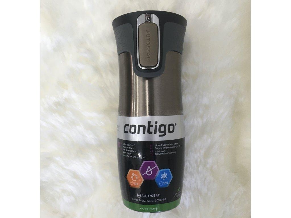 Termoska s uzamykatelným pítkem West Loop Contigo - latte