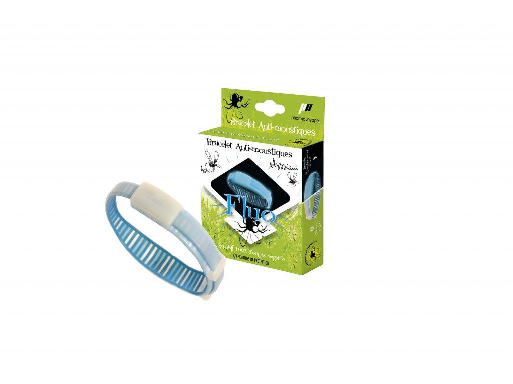 Image Bracelet anti moustiques Bleu Phosphorescent Pack