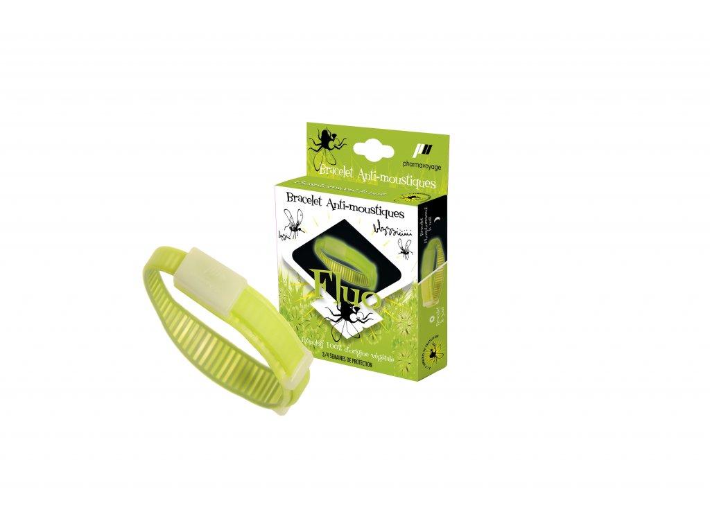 Image Bracelet anti moustiques Vert Phosphorescent Pack