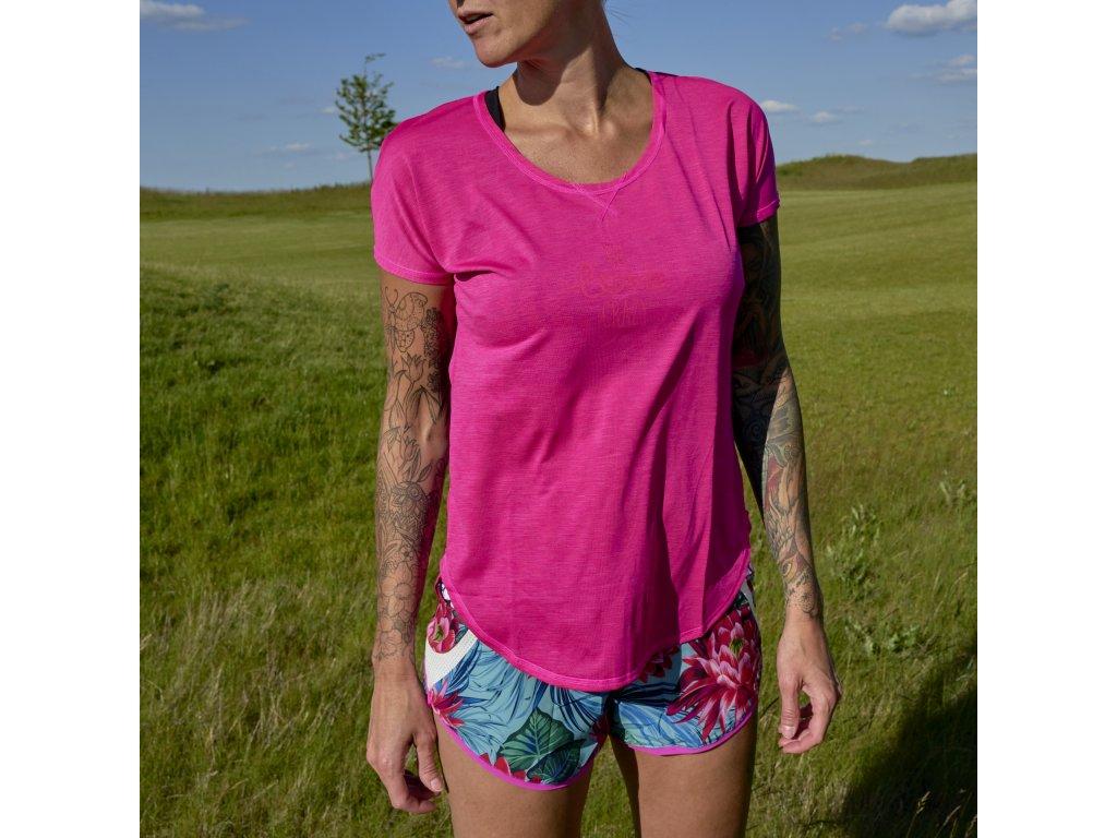 Dámské letní funkční triko Instinct CRAZY - pink