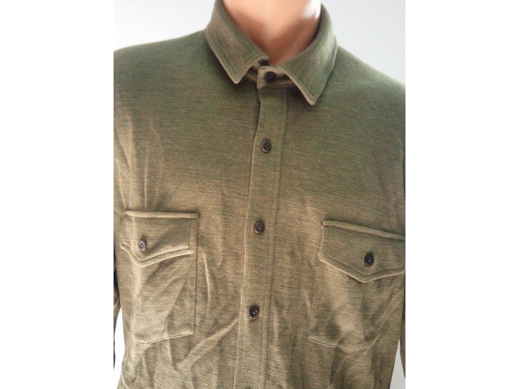 Pánská košile M TRAVELPOCKET SHIRT [sn] - OLIVE/L