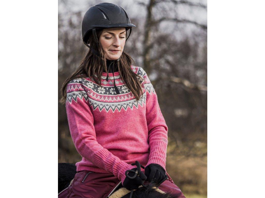 Nordic svetr pink