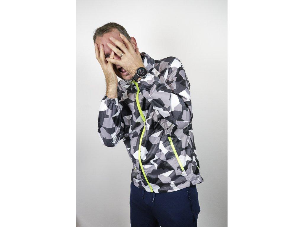 Sbalitelná nepromokavá unisex bunda Mac Edition - white camo