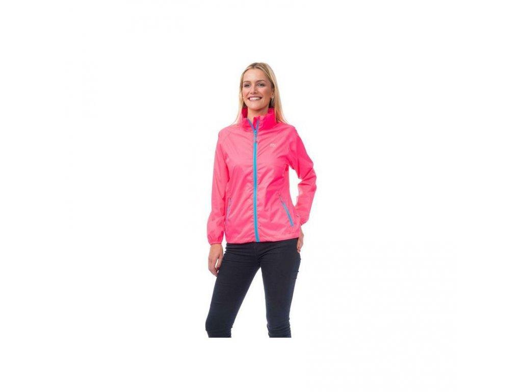 mac in a sac neon waterproof packaway jacket neon pink front grande