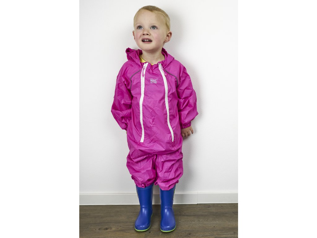 Dětský sbalitelný nepromokavý overal MAC Kid - pink